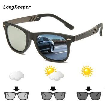 2020 Photochromic Sunglasses Men Fashion Polarized Glasses Chameleon Goggles Male Driving Sun glasses Gafas de sol UV400