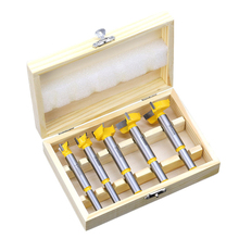 Wood hole drill set 5 pieces of tungsten steel alloy wood board\wood opener