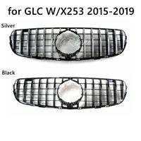Silver Black GTR Style Front Grille For Mercedes Benz GLC W/X253 GLC300 GLC350 2015 2018 2019