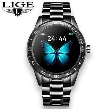 LIGE New Smart Watch Men Sports Waterproof Smartwatch Heart Rate Blood Pressure Monitor Fitness Tracker reloj inteligente + Box