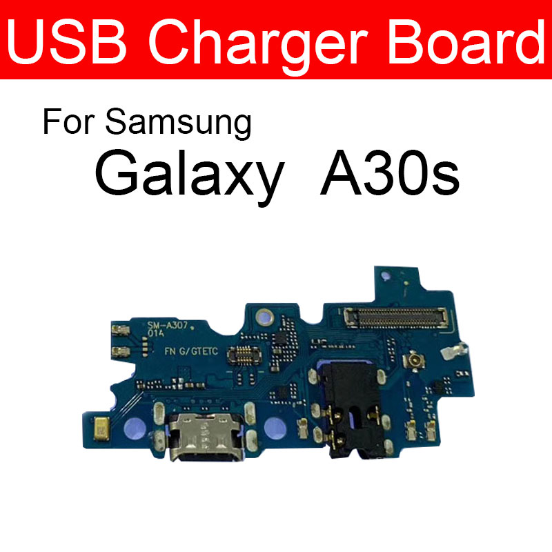 USB Charging Jack Scoket Connector Board For Samsung Galaxy A30s SM-A307FN A307FN Power Charger USB Port Dock Board Replacement