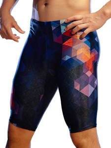 Swimsuit Boys Pants Competition Quick-Dry 361 Long Tight Racing Plus-Size