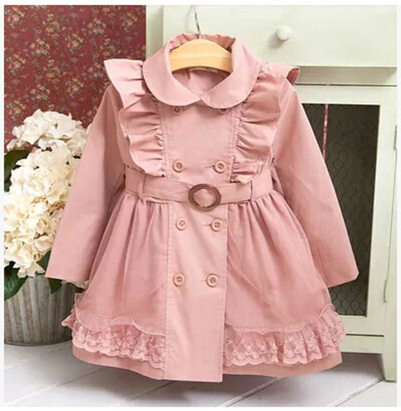 Baby Girls Windbreaker 2019 Spring Jackets For Girls Trench Coats And Raincoats Coat Children Outerwear For 2-7Yrs Girls Clothes