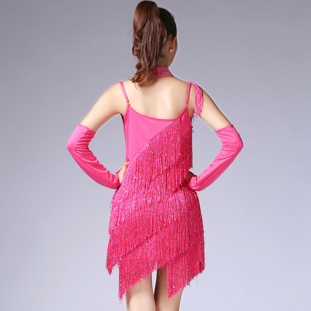 Fringe 20's style dress for women in red