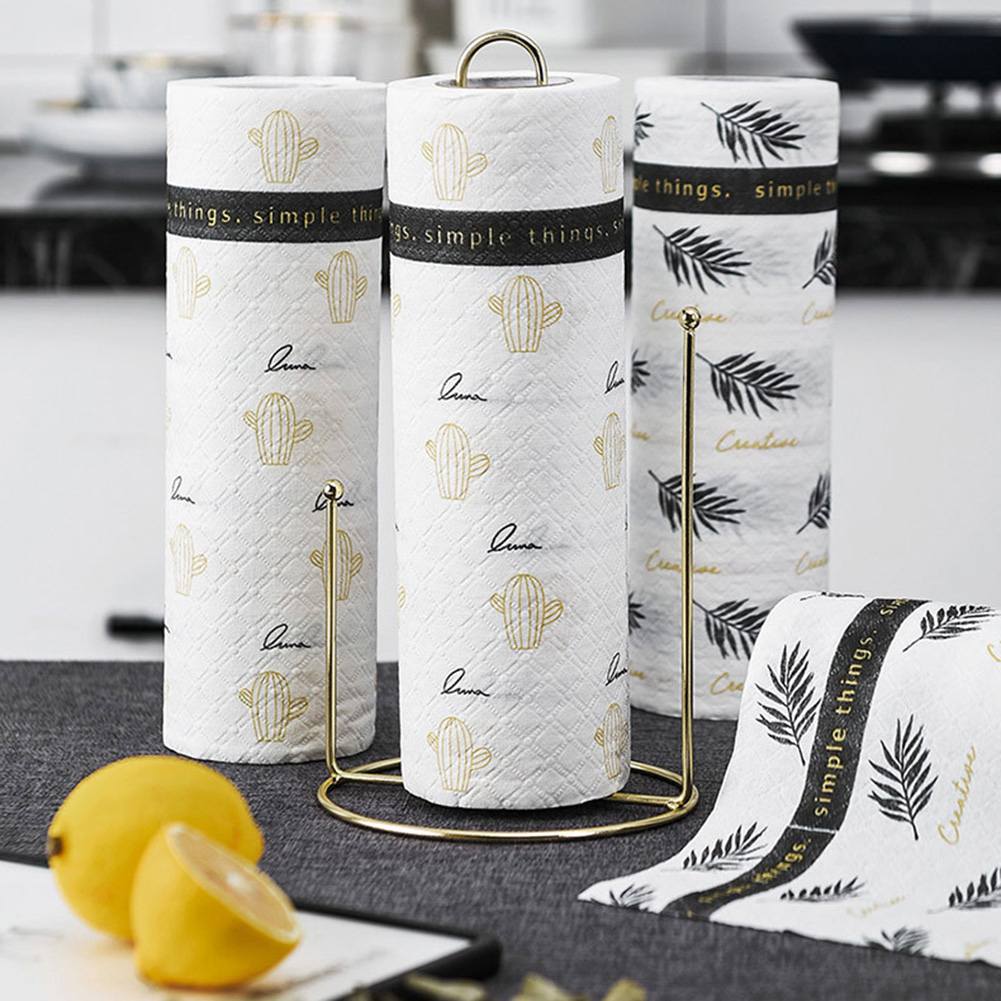 Kitchen Paper Towel Wet Dry Use Cleaning Cloth Reusable Strong Oil-absorbing Tissue K2
