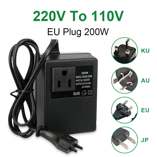 NEW 200W Voltage Converter Transformer Step Down 220V To 110V AC Step Down Travel Voltage Transformer Converter 1