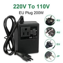 NEUE 200W Spannung Konverter Transformator Schritt Unten 220V Zu 110V AC Schritt Unten Reise Spannung Transformator Konverter