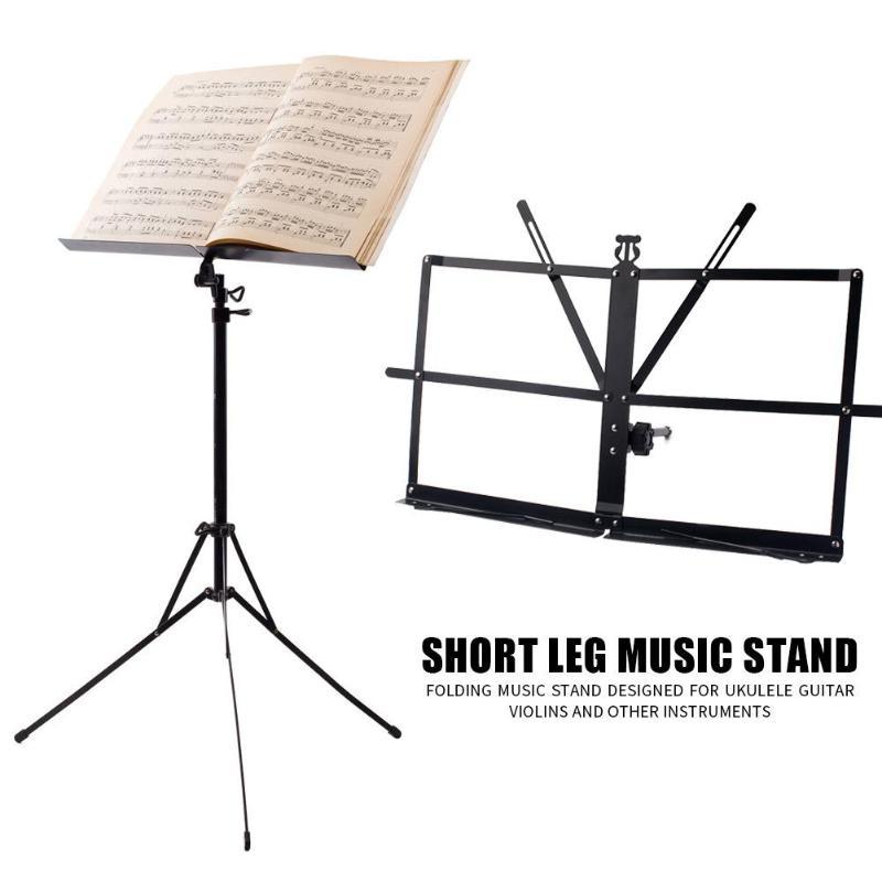 Folding Adjustable Music Stand Bracket Portable Music Sheet Tripod Holder Iron Guitar Violin Score Rack With Carry Bag