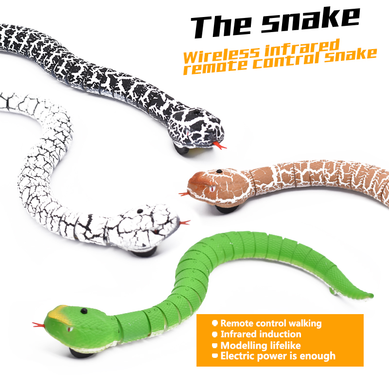 Infrared RC Toy Kit for Kids Adults Smart Remote Control Snake Mouse Cobra Tortoise Prank Jokes Radio Insect for Boys Toy image