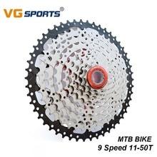 VG Sports 9 Speed Cassette 11-50T Freewheel Ratio Sprocket Steel Mountain MTB Bike Bicycle Flywheel For Shimano