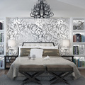 Нетканые 3D обои, Европейский крючок, цветочный фон, Настенные обои для спальни, гостиной, отеля, настенные бумаги, домашний декор U61