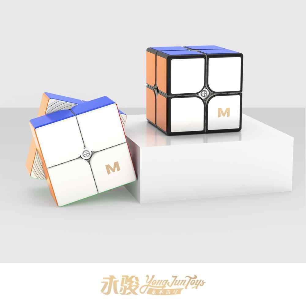 Новинка YongJun MGC Elite 2x2 Магнитный 2x2x2 скоростной магический куб YJ MGC2 Elite M головоломка cubo magico обучающие игрушки для детей