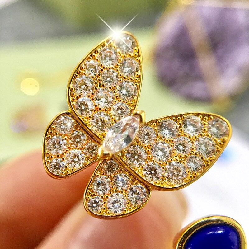 Bague femme chaude bijoux belle papillon mode personnalité visage lisse pour envoyer des cadeaux pour les amoureux 2019 nouveau - 4