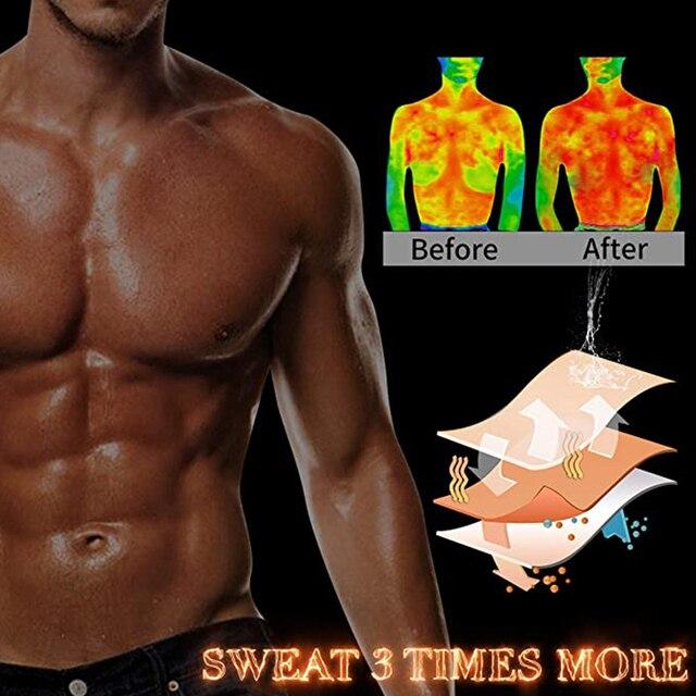 Мужские сауна жилет для сжигания жировой прослойки с боков и живота 4