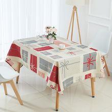 Высококачественная скатерть из хлопка и льна для стола многофункциональная