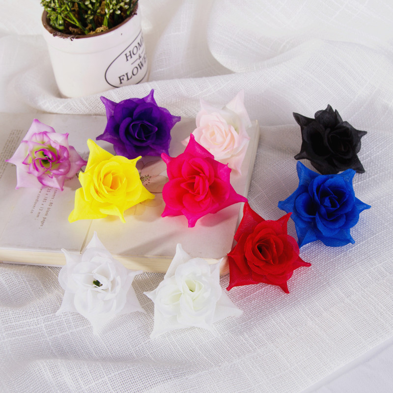 10-20Pcs Cloth Cattelan Bulk 3in Artificial Fake Flower Heads Wedding Home Decor