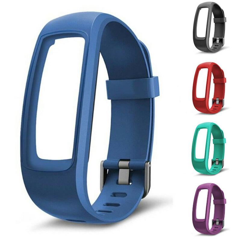 Silicone Watchband Strap For ID107 Plus HR Smart Bracelet Waterproof Sweatproof Comfortable Adjustable Bracelet Strap