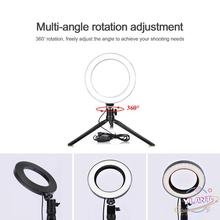 Cellphone Photography Lighting With Tripod For YouTube Makeup Video Live Studio Light Novelty USB Dimmable LED Selfie Ring Light