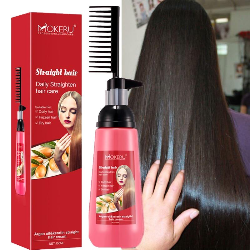 Mokeru 150ml No Damage To Hair Fast Smoothing Collagen Hair Straightening Cream for Woman Keratin Hair Treatment Straightening