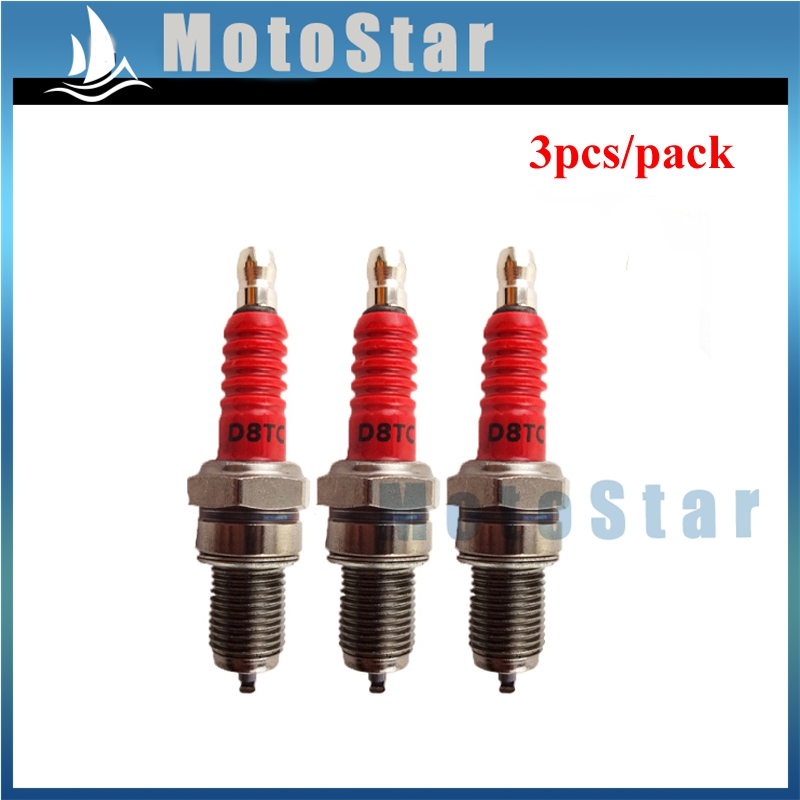 2 pin Ignition Coil Spark Plug NGK for 50-250cc GY6 Scooter ATV Gokart