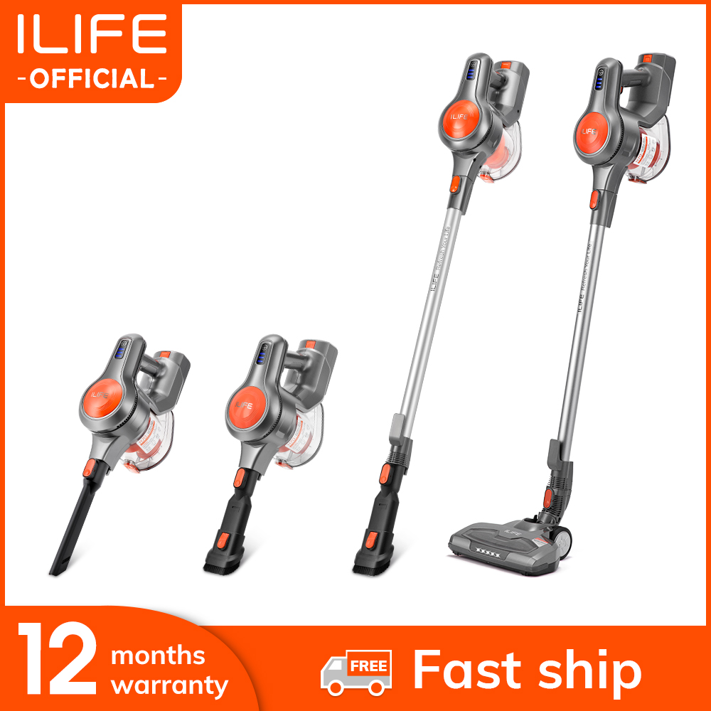 New Arrival ILIFE H70 Handheld Vacuum Cleaner 21000Pa Strong Suction Power Hand Stick Cordless Stick Aspirator 1.2L Big Dustbin(China)