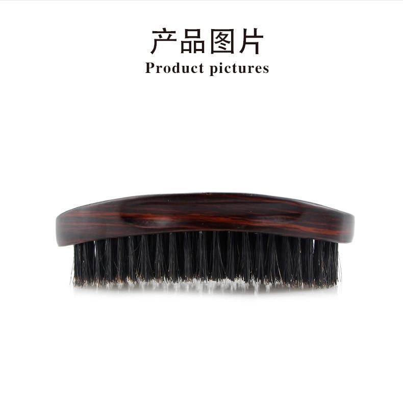 Oval barba escova de cerdas onda escova