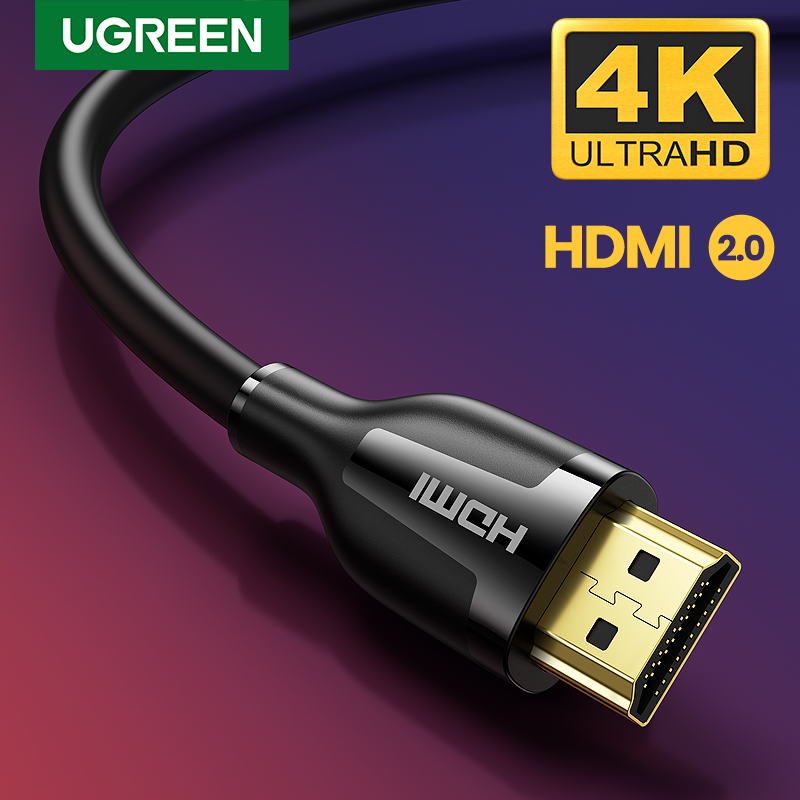 Ugreen HDMI Cable del divisor del Cable de conmutador 2,0 4K/60Hz para Ps4 TV caja de Apple TV macho a macho de 4K Cable de altavoz de Audio HDMI 2,0