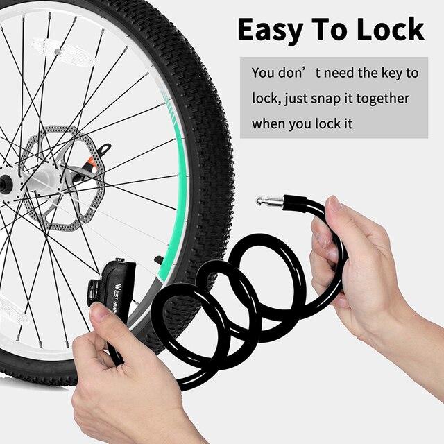 West biking велосипедный кабельный замок для наружного велоспорта