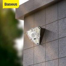 Baseus-luz Solar LED para exteriores, lámpara Solar de pared, impermeable, Sensor de luz por movimiento PIR para jardín y balcón