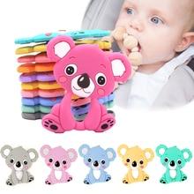 Детские Силиконовые Прорезыватели для грызунов в пищевом стиле «сделай сам», коала, детское кольцо, Прорезыватель для зубов, Детские Жевательные подвески, подарок для прорезывания зубов, игрушки для малышей