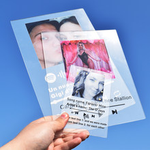 Tablero acrílico personalizado de canciones de música, Spotify, código, imagen, registro de fecha, foto personalizada, regalo del Día de las madres para amantes