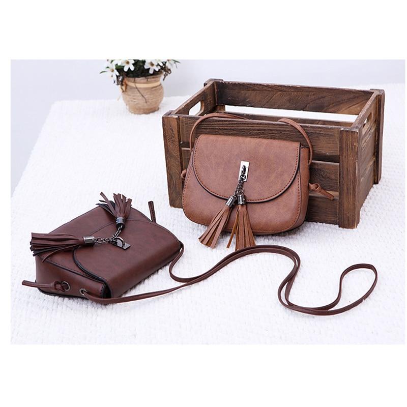 Ladies Bag Spring And Summer New Women's Bag  Hadbag Semi Circle Tassel Mini Bag Mobile Phone Bag Shoulder Bag Messenger Bags