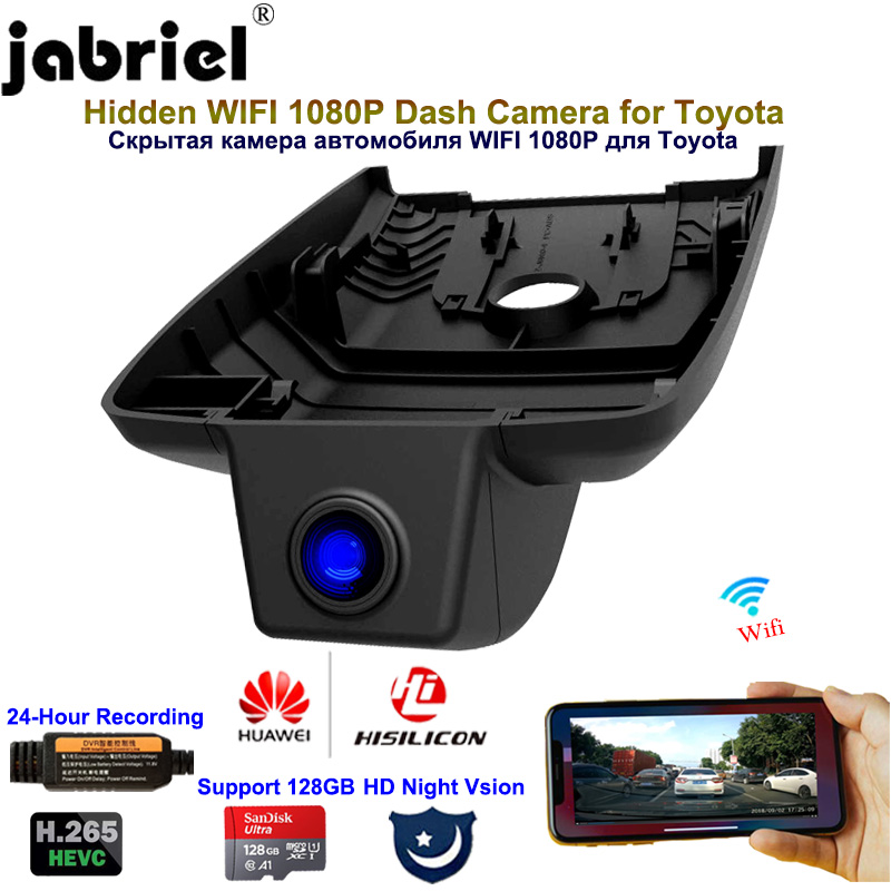 Jabriel 1080P Hidden WIFI Dash Cam Car Camera Car Dvr Dual lens Rear camera for Toyota Camry XV70 2015 2016 2017 2018 2019 2020|DVR/Dash Camera| - AliExpress
