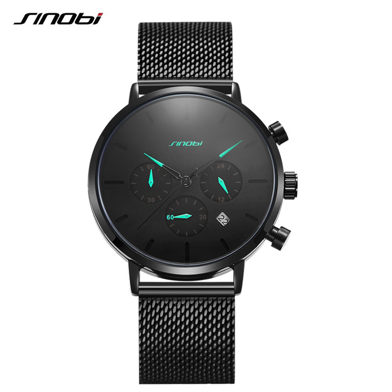 Sinobi Men Watch Brand Luxury Famous Dress Fashion Watches Unisex Ultra Thin Quartz Wristwatch Male Clock Relojes Para Hombre in Quartz Watches from Watches