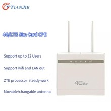 TIANJIE Wireless 4G LTE WIFI Router Unlock CPE WIFI Modem external antenna with sim card slot Router Modem LAN port wifi Dongle(China)