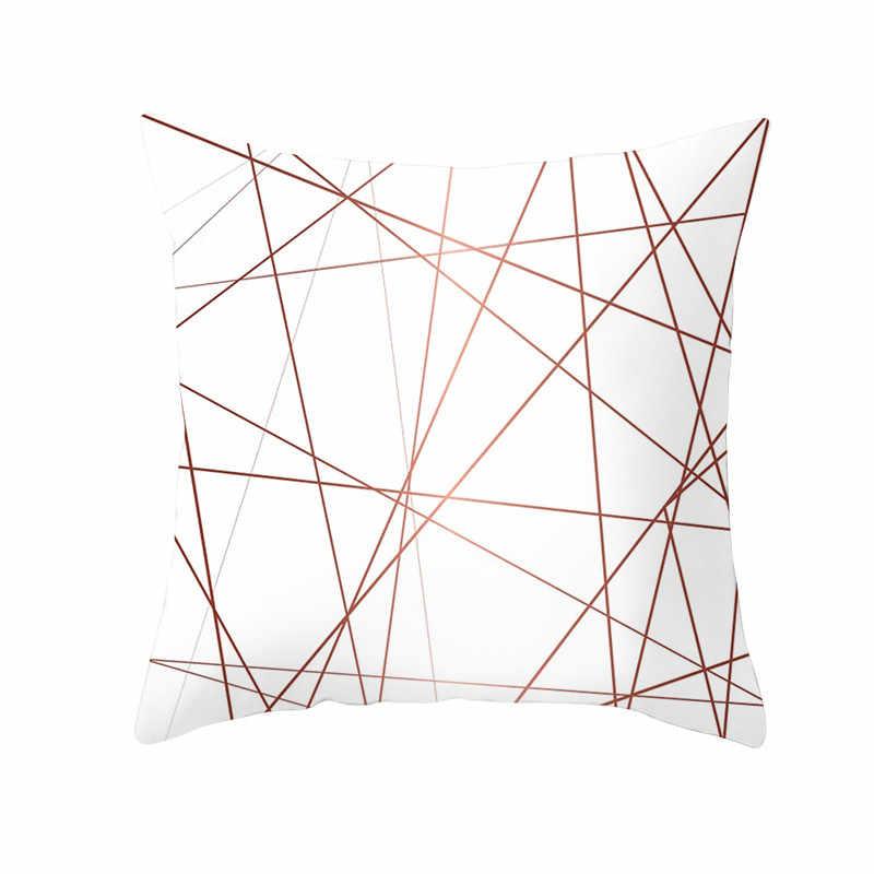 Fuwatacchi Hoa Hồng Vàng Hình Học Đệm Hoa Gối Trang Trí Dành Cho Nhà Sofa Giường Polyester Ném Áo Gối Nằm 45*45