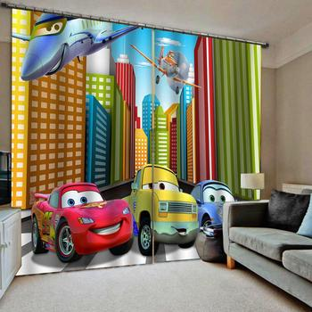 Cartoon 3D Curtain Printing Blockout Polyester Photo Drapes Fabric For Room boys curtains