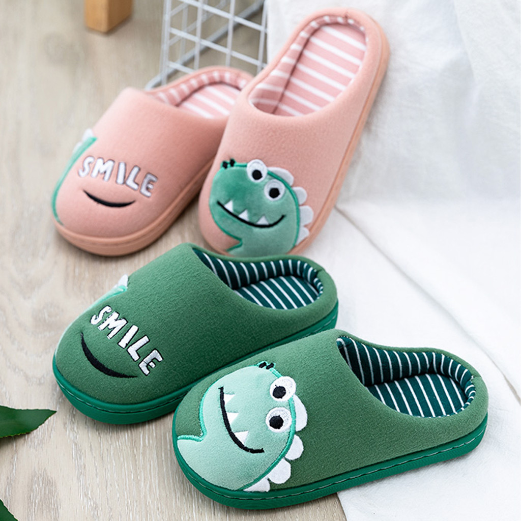 Baby Kids Slippers Home Shoes Toddler Boys Girls Little Kid Shoes Warm Cute Animal Kid Home Slippers For Winter Keep Warm