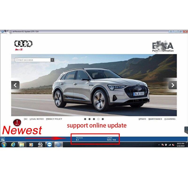 2021 venda quente suporte em linha carros de atualização e t/k 8 .2 vag grupo veículos catálogo de peças eletrônicas até 2020 anos