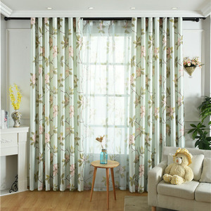 Cortinas para sala de estar americana, tela de cortina de alto grado, seda blanca, Impresión de terciopelo individual, cortinas opacas frescas