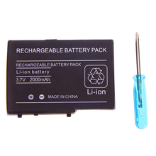 2pcs 2000mAh 3.7V Rechargeable Lithium-ion Battery For Nintendo DS Lite Replacement Battery Pack With Mini Screwdriver for NDSL