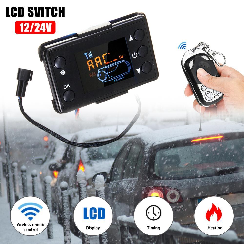 Für Air Diesel Heizung Parkplatz Fernbedienung + LCD Monitor Switch Board 12/24V