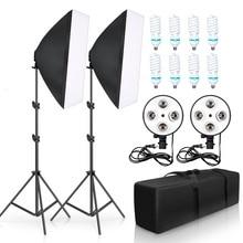 Photo Studio Softbox Kit 8pcs 135W Photographic Lighting Kit