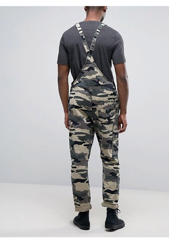Men's Camouflage Jumpsuit Pants Bib Overalls Tracksuit Camouflage Print Jeans Tracksuit Work Uniform Summer Sleeveless Overalls (4)