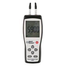 Digital Ultrasonic Thickness Gauge Sound Velocity Meter Metal Depth tester 1.2-225mm Smart Sensor AS840 with LCD display Sale