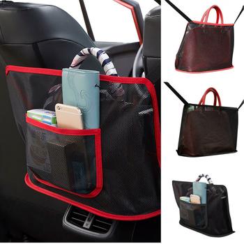 Kieszeń na siateczkę samochodową wieszak na torebki przechowywanie za fotelem samochodowym między siedzeniem przechowywanie Pet Net Barrier Dog Net Barrier akcesoria do wnętrz samochodowych tanie i dobre opinie CN (pochodzenie) Seat Szczelinowa Schowek Torba Polyester Support