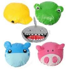 Engraçado dos desenhos animados animal chuveiro banho boné de cabelo chapéu impermeável pvc adultos crianças banho