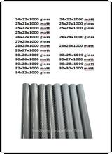 1000mm 3k 탄소 섬유 튜브 외경 24mm 25mm 26mm 27mm 28mm 29mm 30mm 32mm 33mm 34mm 롤 포장 파이프 경량, 고강도