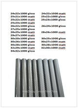 1000mm 3k סיבי פחמן צינור OD 24mm 25mm 26mm 27mm 28mm 29mm 30mm 32mm 33mm 34mm רול עטוף צינור אור משקל, חוזק גבוהה