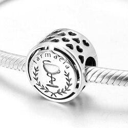 Mode Authentieke 925 Sterling Zilver Carreira Farmacia Charm Kralen Fit Originele Pandora Bedels Armbanden Sieraden Maken